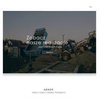 Prace i roboty ziemne Gdańsk - Adkop wynajem koparki, budowa drenaży, grunty pod budynki, skarpowanie terenu, remonty drogowe, budowa dróg z płyt Jumbo,