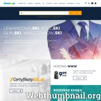 Domeny.pl z siedzibą w Krakowie przy ul. Marcika 27, jest obecnie jedną z popularniejszych firmy z sektora IT. Jej oferta skierowana się głównie do przedsiębiorców, którzy chcą, aby ich firma zaistniała w sieci, a także klientów indywidualnych. Domeny.pl zajmują się głównie sprzedażą takich produktów jak: domeny, ssl, serwery, e-podpisy. Dzięki temu, że firma ciągle się rozwija, w odpowiedni sposób reaguje na stale zmieniający się rynek oraz potrafi dopasować się do zmian, znajduje się w czołówce polskich firm. ./_thumb/domeny.pl.png