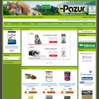 Masz w domu zwierzaka i poszukujesz wypróbowanego, niedrogiego i komfortowego sklepu zoologicznego?Masz dość biegania po sklepach i dźwigania ciężkiej karmy? Słyszałeś już o sklepie zoologiczny E-Pazur? Jeśli nie, to koniecznie wypróbuj naszą ofertę! Sprzedajemy wszystko czego potrzebują domowe zwierzaki: karmy (specjalizujemy się szczególnie w karmach dla psów i kotów - mokrych i suchych), środki do pielęgnacji i ochrony zwierząt, akcesoria zoologiczne, akwarystyczne i terrarystyczne, fachową literaturę, zabawki itd. Towary podzielone są na sklepie według gatunków zwierząt, a więc są kategorie: koty, psy, małe zwierzęta, ptaki, akwarystyka, terrarystyka. Ułatwia to szybkie zakupy.