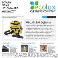 Profesjonalne i ekspresowe sprzątanie domów, mieszkań, powierzchni biurowych i innych, również specyficznych miejsc tj. groby, pomniki czy klatki schodowe, również mieszkania po remoncie. Zaufana i sprawdzona ekipa sprzątająca EcoLux, od 10 lat świadczy usługi sprzątania w mieście Warszawa na bardzo wysokim poziomie. Do każdego zlecenia podchodzimy z wielkim zaangażowaniem i wykonujemy swoją pracę bardzo solidnie. Oprócz ogólnych działań sprzątających zajmujemy się : praniem narożników i innych mebli tapicerowanych, pranie dywanów i wykładzin, mycie okien. Zapraszamy wszystkie osoby zainteresowane naszą ofertą!
