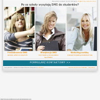 Witryna opisuje możliwości zastosowania marketingu mobilnego w szkołach wyższych. Informacja o wynikach egzaminu może być  przekazana poprzez wysyłkę SMS  w formie powiadomień SMS i przypomnień SMS. Masowa wysyłka SMS jest dobrym i szybkim sposobem na przekazanie ważnej informacji. Wysyłanie SMS czy to pojedynczych czy też hurtowych SMS odbywa się przy użyciu zaawansowanych technologii gwarantujących bezpieczeństwo świadczonych usług.