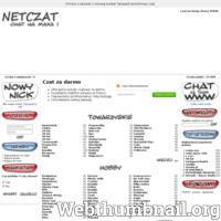NETCZAT to serwis oferujący bezpłatnie chat, który użytkownicy internetu mogą umieszczać na własnych stronach WWW. Idealne narzędzie do tworzenia społeczności internetowej. Dla wymgających także w wersji komercyjnej.