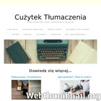 Strona przedstawia firmę tłumaczeniową z Łańcuta, czyli spod Rzeszowa. Firma Cużytek Tłumaczenia oferuje usługi tłumaczeniowe. Na stronie możemy znaleźć całe spektrum usług oraz dane kontaktowe do firmy. Niniejsza strona internetowa jest powiązana z blogiem, który zachęca do nauki języka angielskiego. I właśnie firma tłumaczy głównie z i na język angielski, niemiecki oraz inne języki europejskie.