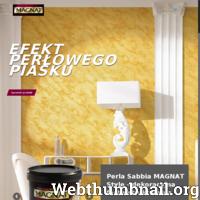 Strona poświęcona farbie dekoracyjnej Magnat Perla Sabbia dającej efekt perłowego piasku. Zawiera informacje dotyczące struktury dekoracyjnej Perla Sabbia: rodzaj farby, wydajność, dostępne opakowania, zastosowanie. Wskazówki dotyczące użycia tynku strukturalnego Perla Sabbia – jak uzyskać idealny, oryginalny efekt pięknej struktury piasku z perłowym połyskiem i satynową poświatą. Perla Sabbia dostępna jest w kolorze złotym oraz srebrnym z możliwością zabarwienia jednym z kilkunastu kolorów. Na stronie znajdują się porady eksperta oraz filmy instruktażowe dotyczące sposobu nakładania farby Perla Sabbia, barwienia jej przy użyciu pigmentów. Informacje dotyczące narzędzi niezbędnych do wykonania tynku. Bogata galeria zdjęć przedstawiająca aranżacje pomieszczeń z wykorzystaniem farby dekoracyjnej Magnat Perla Sabbia.