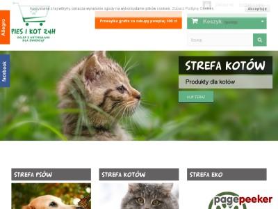 Pies i Kot 24h www.piesikot24h.pl to nowoczesny sklep oferujący karmę dla zwierząt najwyższej jakości. Oferujemy też szeroki zestaw karm weterynaryjnych Vet Life. Polecamy zdrową, pełnowartościową suchą i mokrą karmę dla psów i kotów. W naszym sklepie dostępne są również akcesoria w dużym wyborze dla domowych pupili. Posiadamy szeroką gamę produktów dla psów i kotów znanych i lubianych producentów. Serdecznie zapraszamy do zapoznania się z naszą ofertą. Każdy kochający, odpowiedzialny właściciel zwierzaka znajdzie tu coś dla swojego pupila.