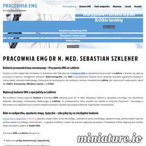 Pracownia EMG w Lublinie - pełne badanie nerwów. Zapraszam do bezpłatnych konsultacji e-mail. Najnowszy sprzęt i najniższe ceny kompleksowych badań EMG.
