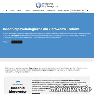 Psychotechnika Kraków: badania psychologiczne dla kierowców i operatorów. Psychotesty bez stresu i kolejek! Termin dziś. Biofeedback.
