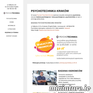 Badania psychotechniczne Kraków: bez stresu, tanio, od ręki! Psychotechnika, psychotesty, medycyna pracy, badania kierowców, operatorów, wysokość.
