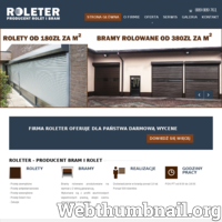 Firma Roleter jest Producentem Rolet oraz zajmuje się montażem, serwisem rolet i żaluzji. Nasza wieloletnie doświadczenie gwarantuje profesjonalną i pełną obsługę serwisową. Oferujemy bezpłatny dojazd do Klienta na terenie Śląska oraz udzielenie bezpłatnej wyceny. Szeroka oferta towarowa, jakościowa i cenowa, położenie firmy, infrastruktura i zatrudnienie wykwalifikowanej kadry pozwala na terminową realizację nawet bardzo dużych zamówień. Na wszystkie usługi firma udziela gwarancji. Przy pomiarze u klienta zabieramy wzorniki materiałów oraz kolorów które mamy w ofercie. Działamy głównie na terenie Śląska - Katowice, Chorzów, Siemianowice, Mysłowice, Czeladź, Będzin, Zabrze, Bytom, Piekary Śląskie, Tychy, Mikołów, Gliwice, Ruda Śląska, Pszczyna, Kobiór, Wyry, Sosnowiec.