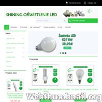 Sklep internetowy Shining ma w swojej ofercie szeroką gamę źródeł światła LED.  Oferujemy żarówki z gwintem e27, e14, mr16, gu 10 jak i wiele rodzajów świetlówek.  Prowadzimy sprzedaż detaliczną, jak i hurtową.