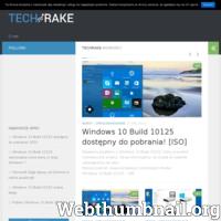 TechRake to serwis związany z tematyką technologiczną. Udostępniane są na nim treści typu: recenzja, opinie, aktualności. ./_thumb/techrake.pl.png