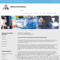 """Klinika ortopedyczna TRIGON ORTHOPEDIA. Zapraszamy pacjentów. Jeśli masz problemy ze swoim zdrowiem, być może najlepszym rozwiązaniem będzie odwiedzenie niepublicznej lecznicy """"Trigon Orthopedia"""", znajdującej się w Warszawie – na Ursynowie. Naszą specjalnością jest chirurgia kostna. U nas można wykonać takie zabiegi ortopedyczne, jak: operacja kręgosłupa, operacja haluksa, czy też operacja stopy. Potrzebującym możemy wstawić endoprotezę kolana, ew. stawu biodrowego. Robimy także artroskopię kolana. Ceny za nasze usługi nie są niskie, lecz przecież zdrowie jest bezcenne. Zapraszamy zatem do kliniki na ul. Dereniową 2c w Warszawie. Zajmie się Państwem zespół doświadczonych lekarzy i średniego personelu medycznego. Strona internetowa kliniki TRIGON: http://trigonorthopedia.pl."""