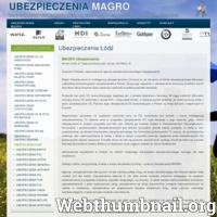 Ubezpieczenia Łódź -  Magro Ubezpieczenia Sp. z o.o. to multiagencja ubezpieczeniowa. ./_thumb/ubezpieczenia-magro.pl.png