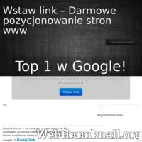Szukasz strony gdzie mógłbyś wypozycjonować swoją stronę www zupełnie za darmo bez umieszczania linka zwrotnego? Dobrze trafiłeś! Na naszej stronie masz możliwość dodania nieograniczonej liczby linków dowolnych stron internetowych!