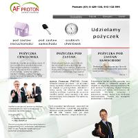 Pensje za wykonywaną pracę w Polsce są małe, toteż znana spółka AF Proton Chwilówki Poznań proponuje najróżniejsze pożyczki na konieczne wydatki. Dokładniejsze dane znajdują się na witrynie internetowej. ./_thumb/www.afproton.pl.png