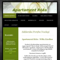 Apartament Róża jest luksusowym apartamentem znajdującym się w zabytkowej, starannie odrestaurowanej Willi Józefinie w Szklarskiej Porębie. Położony kilka kroków od centrum miasta, blisko lasów, bazy wypadowej na Wodospad Kamieńczyk i innych atrakcji regionu. Idealny dla rodzin z dziećmi i nie tylko...    ./_thumb/www.apartamentroza.pl.png