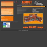 Firma AUGUST istnieje od 1977 roku. W ofercie dla szerszych odbiorców są produkty motoryzacyjne, a między innymi bezazbestowe klocki hamulcowe do samochodów ciężarowych, dostawczych, autobusów, a także maszyn budowlanych.   W naszej ofercie handlowej znajdują się klocki do samochodów ciężarowych, dostawczych, autobusów i maszyn budowlanych. Są to między innymi takie marki: MERCEDES, FIAT, CITROEN, IVECO, MAN, VOLVO, SETRA, SCANIA, Autobusy SOLARIS i wiele innych marek.   Posiadamy wymagane atesty. Produkujemy systemy hamujące tylko z importowanych materiałów ciernych firm, posiadających międzynarodowe atesty ISO. jakość naszych produktów potwierdza uzyskany przez naszą firmę międzynarodowy certyfikat ISO 9001:2000.