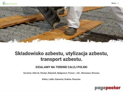 Firma Nobia ma do zaoferowania:  składowisko azbestu, odbiór azbestu, utylizacja azbestu oraz transport azbestu demontaż azbestu