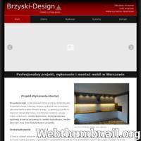 Brzyski-Design to 20 lat doświadczenia! Projektuję i wykonuję meble kuchenne, łazienkowe, szafy wnękowe oraz inne rodzaje mebli na wymiar.