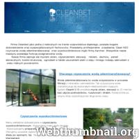 Firma Cleanbet zajmuje się profesjonalnym myciem okien na wysokościach metodą Reach&Wash. Do mycia okien używamy wody demineralizowanej . Oferujemy także usługi z zakresu mycia wysokociśnieniowego. Czyścimy: kostkę brukową, elewacje, dachy. Na życzenie klienta dokonujemy impregnacje agregatem w/w powierzchni.