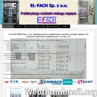 Nowa Firma EL-FACH Sp. z o.o. z siedzibą w Bielsku - Białej przy ulicy Krakowska 269 a. Specjalizujemy się w prefabrykacji rozdzielni niskiego napięcia, dla wszystkich podmiotów gospodarczych w kraju i UE.