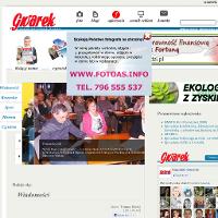 Strona tygodnika GWAREK - ukazującego się w powiecie tarnogórskim, Bytomiu i Piekarach Śląskich.