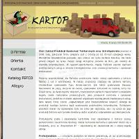 Jako ceniony producent kartonów, przedsiębiorstwo Kartop proponuje różnorakie opakowania tekturowe w atrakcyjnych cenach. Na tej stronie online uzyskać jest okazja dokładne informacje, jakie pudła kartonowe lub kartony klapowe da się tam nabyć. Na stronie prezentowane są także inne usługi, jakie oprócz propozycji ofertowej opakowania tekturowe producent proponuje. I tak na przykład w obszarze oferty usługi transportowe, kontrahenci Kartop mają okazję oczekiwać na w pełni bezpieczny i bardzo szybki przewóz czy przeładunek każdego produktu.