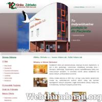 Klinika Zdrówko to prywatny ośrodek medyczny położony w Niemczu koło Bydgoszczy, który od lat specjalizuje się w diagnostyce i leczeniu niepłodności. Placówka oferuje kompleksowy zestaw usług, który obejmuje zarówno badania jak i zabiegi (w tym in vitro). Doświadczeni lekarze prowadzą także pomoc w zakresie położnictwa i ginekologii. Przychodnia zajmuje się również rehabilitacjami i fizykoterapią. Klinika Zdrówko to nowoczesny ośrodek, który posiada liczne certyfikaty. ./_thumb/www.klinika-zdrowko.pl.png