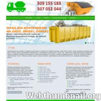 Specjalizujemy się w obsłudze odpadów poremontowych. Dowozimy do Państwa kontenery, dzięki którym bardzo szybko pozbędą się Państwo gruzu i śmieci. Naszym atutem jest wieloletnie doświadczenie. Gwarantujemy fachową pomoc i niskie ceny. Świadczymy usługi transportowe polegające na wywozie uciążliwych odpadów poremontowych. Dzięki nam pozbędziesz się szybko i sprawnie zalegającego gruzu, śmieci itp. Działamy na terenie całej Warszawy i okolic. Oferujemy również usługi w zakresie rozbiórek, przeprowadzek, opróżniania pomieszczeń, sprzątania poremontowego, posesji. Oferujemy Specjalistyczne kontenery do jednorazowego wywozu większych ilości odpadów komunalnych, gruzu, oraz odpadów budowlanych. W cenę usługi wliczone jest podstawienie kontenera pod wskazany adres, postój kontenera oraz jego wywiezienie. Potrzebujesz podwyższyć teren bądź wyrównać swój teren działkę posesję gruzem ziemią? Gruz na utwardzenie drogi, dojazdu? Przekażemy w każdej ilości ziemię, piach gruz. Jeżeli poszukujesz: G