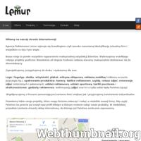 Agencja Reklamowa Lemur - Wykonujemy wszelkiego rodzaju projekty graficzne. Niezależnie od stopnia trudności zadania staramy maksymalnie dostosować się do potrzeb klientów.