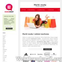 Strona internetowa – markimody.pl dostarcza informacje na temat wszystkich marek światowej sławy. Poszukaj aktualne katalogi odzieży, sprawdzone sklepy online, najbliższe sklepy itd. ./_thumb/www.markimody.pl.png