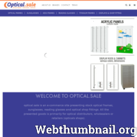 Nasz sklep www.optical.sale oferuje tanie, lecz wysokiej jakości optycznych ramek, okulary przeciwsłoneczne, okulary do czytania za szybką dostawę. Wszystko w magazynie. Optycy mogą znaleźć także wyświetlacze, panele akrylowe, meble itd.