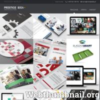 Studio Graficzne Prestige Idea działa od 2011r, natomiast doświadczenie w branży ma znacznie dłuższe. Zakres usług to m.in tworzenie stron internetowych, projektowanie graficzne, identyfikacja wizualna. Dodatkowo można zamówić druk wybranych projektów, w najwyższej jakości na rynku. Nowo powstałym firmom proponuje się identyfikację wizualną, począwszy od stworzenia logo, wizytówki, strony www, kopert i papieru firmowego. Ma to na celu powiązanie wizualne marki z firmą i utrwalenie jej w opinii konsumentów. Prestige Idea dołoży wszelkich starań by pomóc w wyborze odpowiedniej formy reklamy. Zespół grafików posiada znajomość technik poligraficznych, modnych trendów przy tworzeniu projektów graficznych, indywidualne podejście do każdego klienta, nowoczesny styl oraz kreatywne pomysły. www.prestigeidea.pl  ./_thumb/www.prestigeidea.pl.png