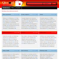 """Katalog stron www.qier.pl, prezentujemy Państwu katalog oferujący wysoką jakość dodawanych stron internetowych. W naszym katalogu stron www na dzień dzisiejszy znajdą Państwo wiele ciekawych i interesujących serwisów z których każdy ma ogrom ciekawych informacji - w naszym katalogu znajdują się zarówno strony """"wizytówki"""" jak i duże serwisy. Katalog stron www.qier.pl pomoże wynieś twój serwis na wyższy poziom - dzięki nam staniesz się bardziej widocznym w wyszukiwarce. Chcąc się pozycjonować nie możesz przegapić takiej okazji."""