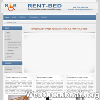 Firma RENT-BED zajmuje się wypożyczaniem sprzętu rehabilitacyjnego: łóżka rehabilitacyjne, koncentratory tlenu,  wózki inwalidzkie, materace.