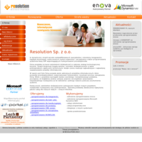Resolution Sp. z o.o. integrator i firma wdrażająca oprogramowanie erp: enova. Solidny partner z długoletnim doświadczeniem w zakresie programów: kadrowych, płacowych, księgowych, magazynowych, sprzedażowych. Oferowany system ERP - enova pomaga w zarządzaniu głównymi procesami biznesowymi: kadrami i płacami, finansami i księgowością, majątkiem i usługami, produkcją, łańcuchem dostaw i projektami. Wspiera również zasobami ludzkimi oraz kontaktami z klientami - crm. System pozwala kontrolować bieżącą kondycję przedsiębiorstwa, zapobiegać zagrożeniom, rozwinąć silne strony oraz zaplanować dalszy rozwój. Soneta enova to nowoczesne, zaawansowane, a przy tym intuicyjne oprogramowanie do zarządzania przedsiębiorstwem. Głównym zadaniem jest usprawnienie procesów zachodzących w średnich i dużych przedsiębiorstwach. Program to rozbudowane narzędzie kadrowo-płacowe, księgowe, handlowe oraz workflow. Dzięki modułowi CRM pozwala na organizowanie szkoleń, projektów, kampanii, wypożyczalni, serwisu.