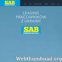 Naszym nadrzędnym celem jest tworzenie wartości dodanej dla naszych Klientów. Lepsza wydajność, długoterminowe oszczędności i bezpieczeństwo prowadzenia biznesu oraz możliwość szybkiego reagowania na zmianę warunków ekonomicznych są zapewnieniem przychodów - agencja pracy Pomorze. SAB leasing pracowników z Ukrainy - Pracowników delegujemy na zasadzie leasingu lub użyczenia - praca dla Ukraińców, pracownicy z Ukrainy, pracownicy ze wschodu. Jeżeli więc wpisujesz szukam pracowników z Ukrainy zapraszamy serdecznie do zapoznania się z naszą ofertą. Zapraszamy ./_thumb/www.sab-praca.pl.png
