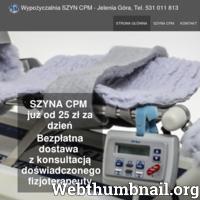 Wynajem Szyn Cpm. Bezpłatna dostawa z konsultacją doświadczonego fizjoterapeuty. Tel. 531 011 813