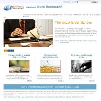 TideTranslator internetowe biuro tłumaczeń specjalizuje się w realizacji tłumaczeń pisemnych dla Klientów biznesowych. Dzięki platformie internetowej, Klienci mają dostęp do wygodnej platformy, dzięki której mogą administrować tłumaczenia przez Internet. Dzięki tej wygodzie tłumaczenia dokumentów realizowane są szybko i rzetelnie, przez wysoko wykwalifikowaną kadrę translatorów. Oferta TideTranslator obejmuje tłumaczenia dokumentów zlecone przez osoby fizyczne m.in.: listy, umowy, pisma lub inne teksty, oraz tłumaczenia specjalistyczne (w tym skomplikowane tłumaczenia korespondencji biznesowej), związane z wieloma dziedzinami nauki i biznesu.