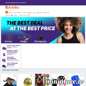 Discover amazing deals every day with Amiko! Free shipping for every product. We provide 24/7 customer service.