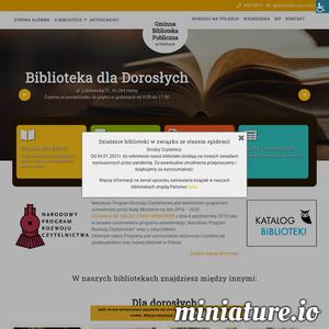 Strona Gminnej Biblioteki Publicznej w Herbach. Czytelnicy znajdą tu podstawowe informacje o bibliotece, godziny otwarcia, nowości czytelnicze oraz informacje o organizowanych konkursach i wydarzeniach.