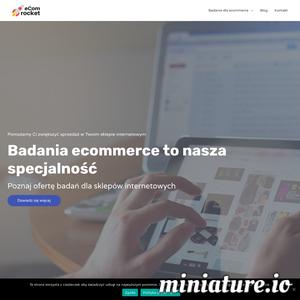 eCom Rocket to agencja, która pomaga rozwijać ecommerce. Badamy UX, satysfakcję klientów i materiały reklamowe. Zwiększamy sprzedaż w sklepach internetowych.  ./_thumb1/ecomrocket.pl.png