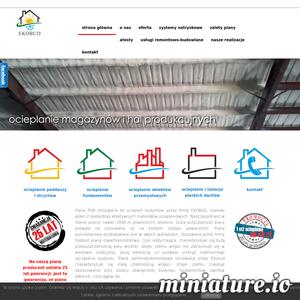 Firma EKOBUD zajmuje się kompleksowym uszczelnianiem za pomocą metody natryskowej poddasza, fundamentów, stropodachu, przechowywalni, magazynów, hali, miejsc inwentarskich, ścianek z płyt KG, domów szkieletowych i pokładów pod ogrzewanie podłogowe. Mamy w ofercie też wykańczanie wnętrz. Profesjonalną jakość usług zapewniamy poprzez pracę na produktach wysokiej klasy firmy IZOLER oraz dzięki naszemu doświadczeniu. Zapraszamy na naszą stronę, gdzie jest możliwość zobaczyć nasze przykładowe wykony oraz do skontaktowania się z nami za pomocą maila, telefonu lub odwiedzenia naszej siedziby.