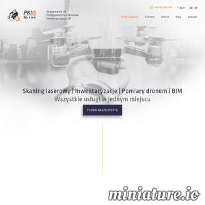 Przedsiębiorstwo PKIG świadczy usługi skaningu laserowego, inwentaryzacji, a także pomiarów wykonywanych dronem i innymi metodami. Bogata oferta profesjonalnych usług, bogate doświadczenie i wykwalifikowany zespół gwarantują najwyższą jakość wykonania zlecenia. Usługi świadczone przez PKIG to niezastąpione narzędzie w budownictwie i nie tylko. ./_thumb1/fotogrametria.pkig.pl.png