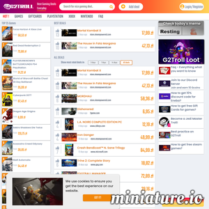 G2troll compares prices for video games across the globe. Moreover we show you how to get free games and big discounts at our platform. Interact with us and be rewarded for it. / game product codes / gifrcards. Xbox, PlayStation, Steam, Origin, Uplay, Battle.net