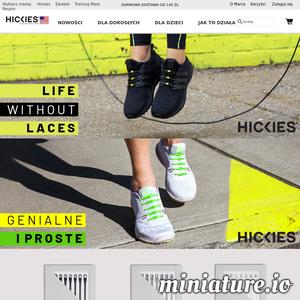 Sznurówki Hickies to alternatywa dla tradycyjnego wiązania butów. Po ich założeniu nie ma potrzeby poprawiania i ponownego wiązania. Hickies to idealny produkt dla aktywnych. Dzięki elastyczności sznurowadeł but dostosowuje się do ruchu stopy zapewniając wygodę. Oferta Hickies to sznurówki dla dorosłych w 3 odsłonach- Hickies 2.0 - gwarancja wygody, Hickies Metallics ze złotymi i srebrnymi klamrami, Hickies z kryształkami Swarowski - wersja luksusowa, a także modele dla dzieci- Hickies Kids - kolorowe i łatwe w zakładaniu.