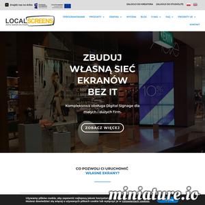 Zbuduj własną sieć monitorów reklamowych bez grafika i działu IT. Kompleksowa obsługa monitorów reklamowych dla małych i dużych firm.