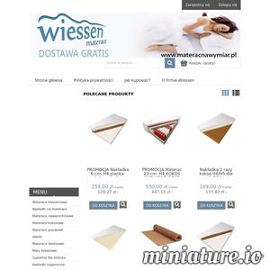 W sklepie internetowym z materacami firmy Wiessen znajdziemy bardzo dobrej jakości materace kieszeniowe, kokosowe oraz polecany i przydatny ochraniacz na materac. W ofercie sklepu znajdziemy również materac nawierzchniowy i zyskujący na popularności materac lateksowy. Produkty są trwałe, solidne, często antyalergiczne, zadowolą nawet najbardziej wymagających klientów.