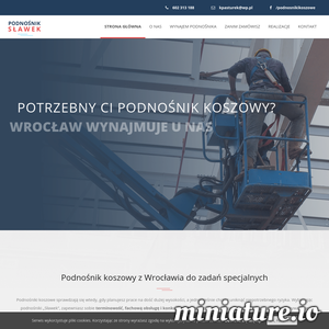 """Podnośniki koszowe """"Sławek"""" z Wrocławia – 20 lat doświadczenia w pracach na wysokości, niezbędne uprawnienia, bezpieczny sprzęt i gwarancja szybkości wykonania. Dysponujemy podnośnikami o wysokości roboczej 25 metrów i wysięgu bocznym 16 metrów. Działamy głównie na terenie Wrocławia, ale pracujemy również poza granicami miasta po wcześniejszym uzgodnieniu kosztów dojazdu. Bezpieczeństwo naszych klientów jest dla nas tak samo ważne, jak nasze własne. Dlatego pracujemy tylko na całkowicie sprawnym sprzęcie, który znajduje się pod stałym nadzorem Urzędu Dozoru Technicznego. Zatrudniamy wyłącznie doświadczonych i posiadających niezbędne uprawnienia operatorów. ./_thumb1/podnosnikslawek.pl.png"""