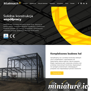 Firma Stalmach - zajmujemy się kompleksową budową hal stalowych poprzez projekt, produkcję oraz kompleksowy montaż.  10 letnie doświadczenie pozwoliło nam zbudować silny oraz doposażony w sprzęt zespół, dzięki któremu realizujemy nawet najbardziej skomplikowane inwestycje w całej Polsce.  www.stalmach.com.pl